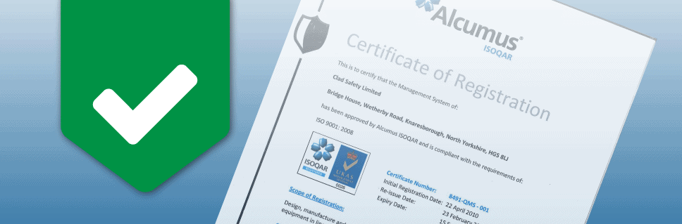 Clad Safety Once Again Gains Iso90012008 Certification Clad Safety
