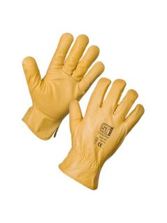 Lined leather driving gloves