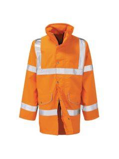 hi vis rail waterproof breathable storm coat anorak jacket high visibility workwear