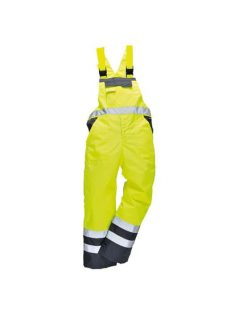 hi vis rail bib and brace coverall trousers waterproof breathable high visibility workwear