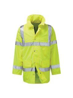 hi vis waterproof storm coat anorak traffic coat high visibility workwear