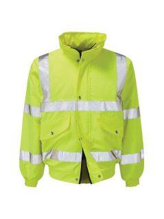 hi vis waterproof bomber jacket high visibility workwear