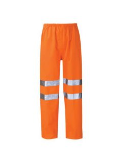 hi vis waterproof breathable overtrousers high visibility workwear